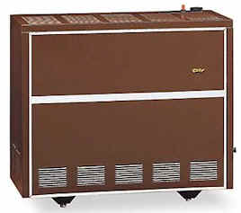 Awesome Cozy VC201B 20,000 Btu Vented Console Heater   Closed Front   Natural Gas