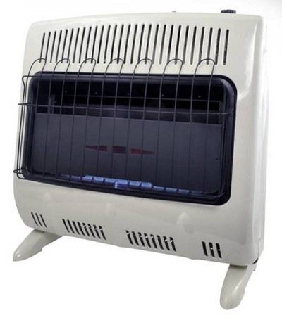 Mr. Heater MHVFGH30NGT 30,000 Btu Vent Free Blue Flame Natural Gas Garage / Shop Heater - F299735