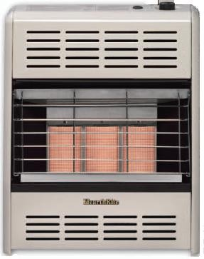 Hearthrite HR18TN 18,000 Btu Vent Free Radiant Natural Gas Heater With Thermostat - Place item in cart for your final discounted price