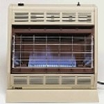 Empire BF30WNAT 30,000 Btu Blue Flame Vent Free Natural Gas Space Heater With Thermostat