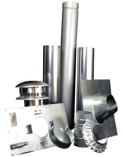 "F102848 4"" Vertical Flue Kit - for HSU/MSU50 and HSU/MHU80"