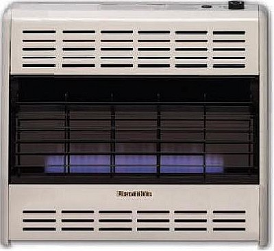 Hearthrite HB30TN 30000 Btu Vent Free Blue Flame Natural Gas Heater With Thermostat
