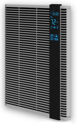 Qmark / Marley HT2024SS Residential Electric Fan Forced Digital Programmable Wall Heater - 240 VAC - Up to 2000 Watts - 5 Year Warranty